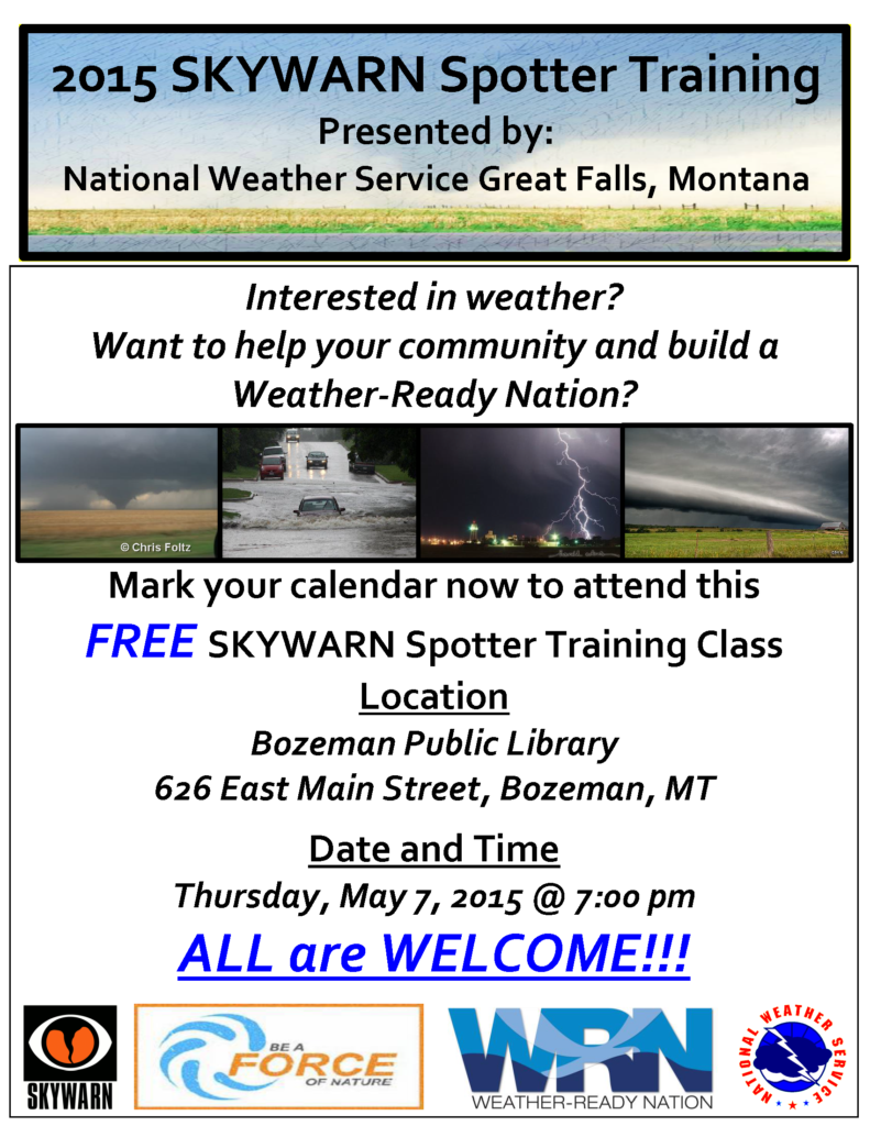 Gallatin County Spotter Training Flyer