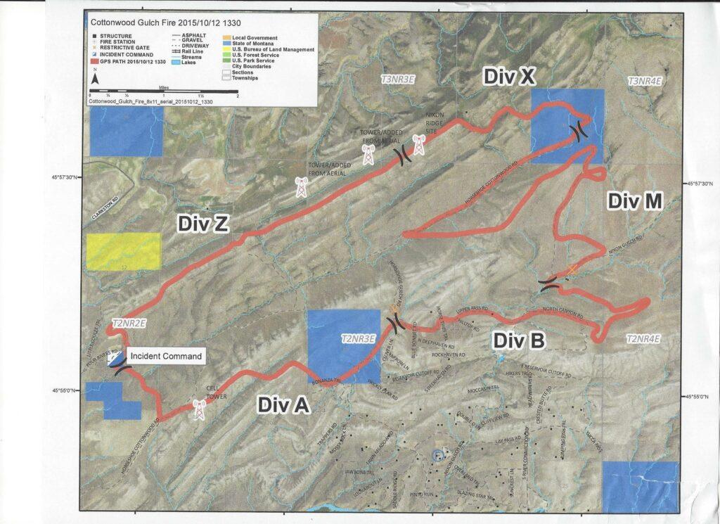 Cottonwood Fire Map